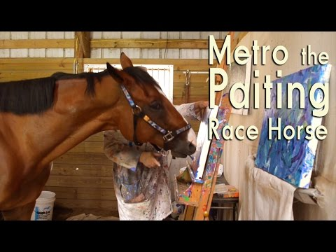Metro The Painting Racehorse