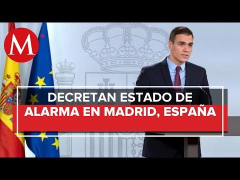 España declara estado de emergencia en Madrid por coronavirus